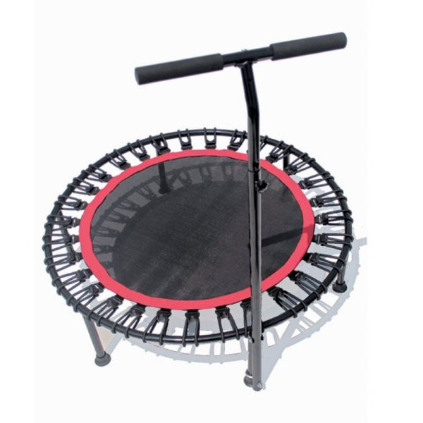 Fitness trampolines, cardio exercise, T Handrail